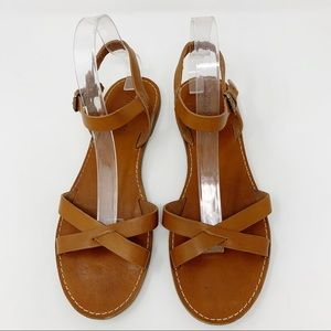 Madewell Tan Leather Sandals Size 10